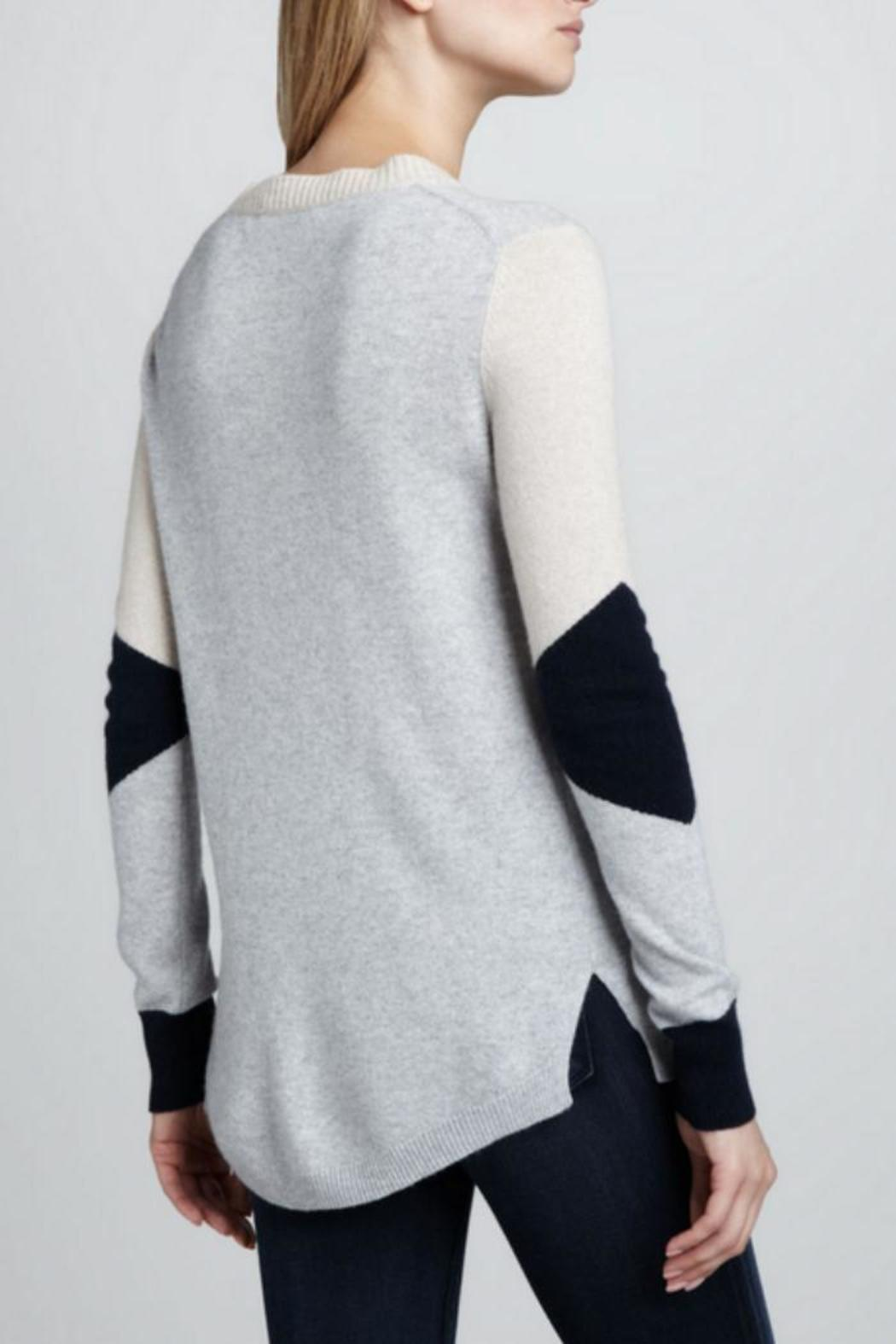 Rebecca Taylor Colorblocked Intarsia Sweater - Front Full Image