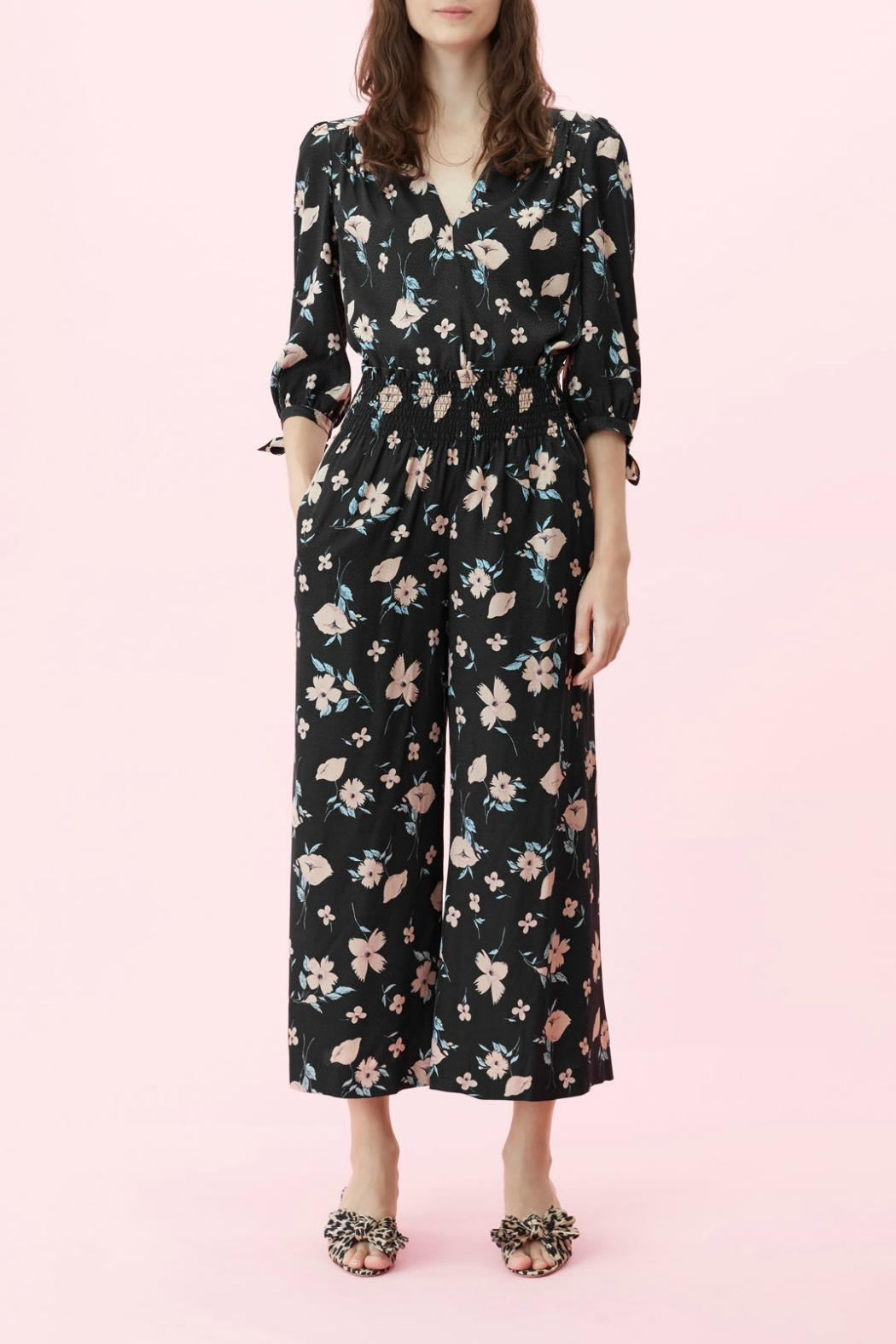 Rebecca Taylor Daniella Smocked Pant - Side Cropped Image
