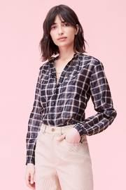 Rebecca Taylor Lame Plaid Top - Product Mini Image
