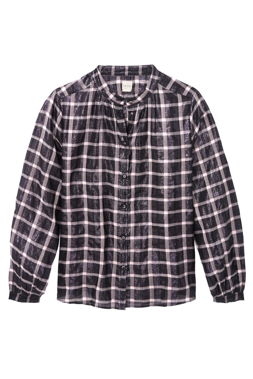 Rebecca Taylor Lame Plaid Top - Front Full Image