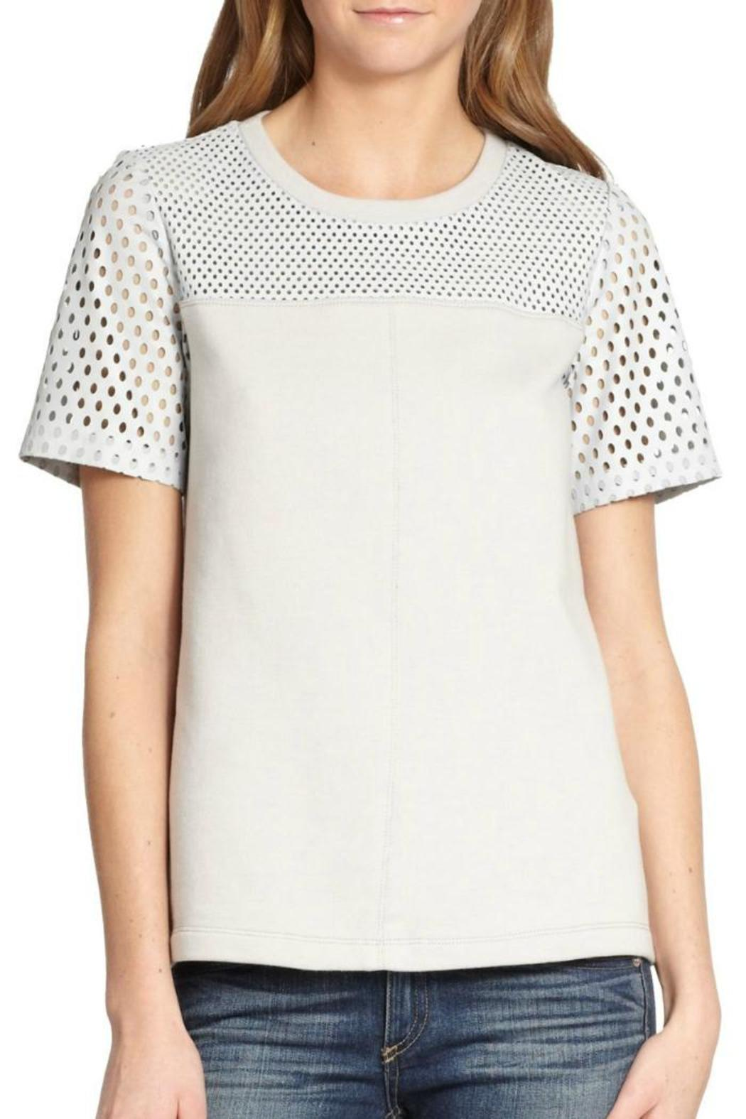 Rebecca Taylor Perforated Leather Top - Main Image