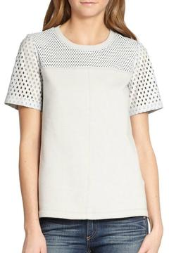 Rebecca Taylor Perforated Leather Top - Product List Image