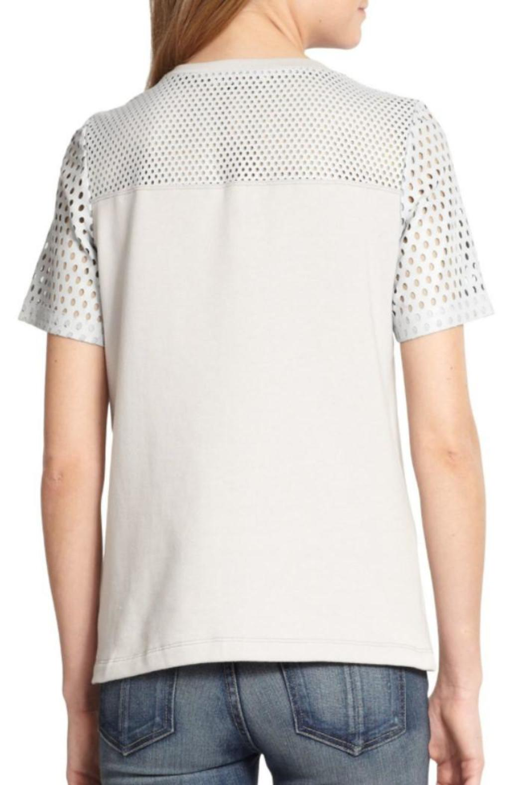 Rebecca Taylor Perforated Leather Top - Front Full Image