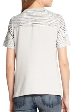 Rebecca Taylor Perforated Leather Top - Alternate List Image