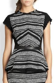 Rebecca Taylor Stripe Tweed Peplum - Product Mini Image