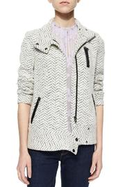 Rebecca Taylor Tweed Moto Jacket - Front cropped