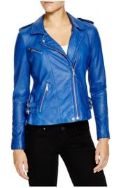 Rebecca Taylor Washed Leather Jacket - Front cropped