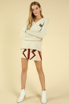 887768e63b6 ... Honey Punch Rebel Beige Sweater - Product List Placeholder Image