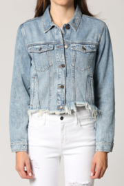 Hidden Jeans Rebel Classic Cropped Jean Jacket - Product Mini Image