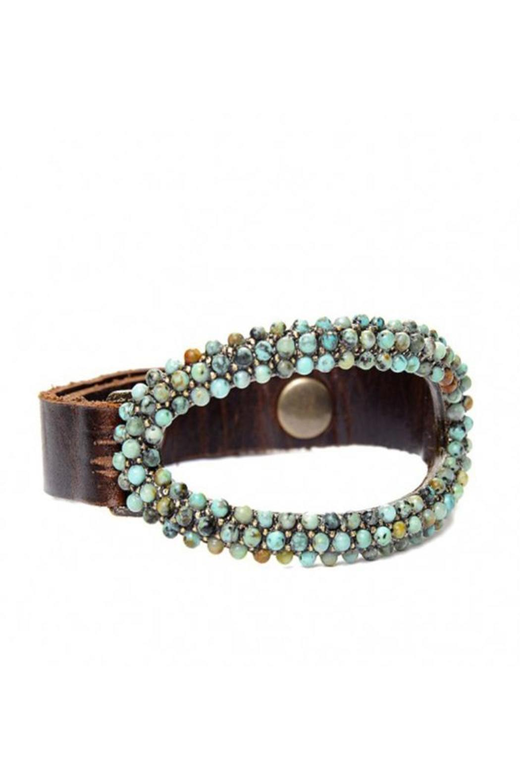 Rebel designs leather crystal bracelet from canada by for Rebel designs jewelry sale