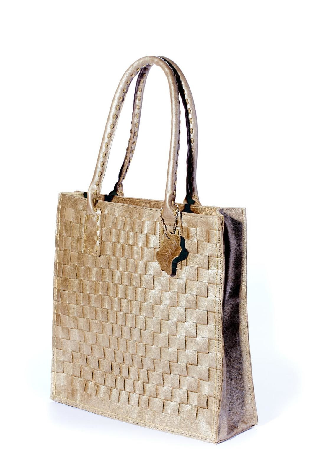 Rebel With Cause Gold Braided Bag - Side Cropped Image