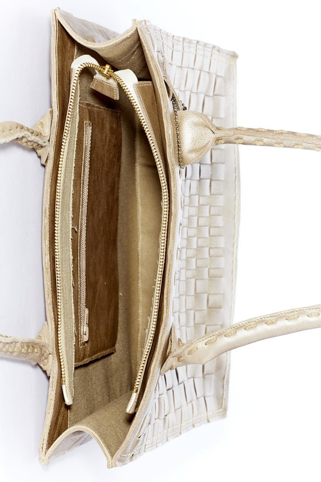 Rebel With Cause Gold Braided Bag - Back Cropped Image