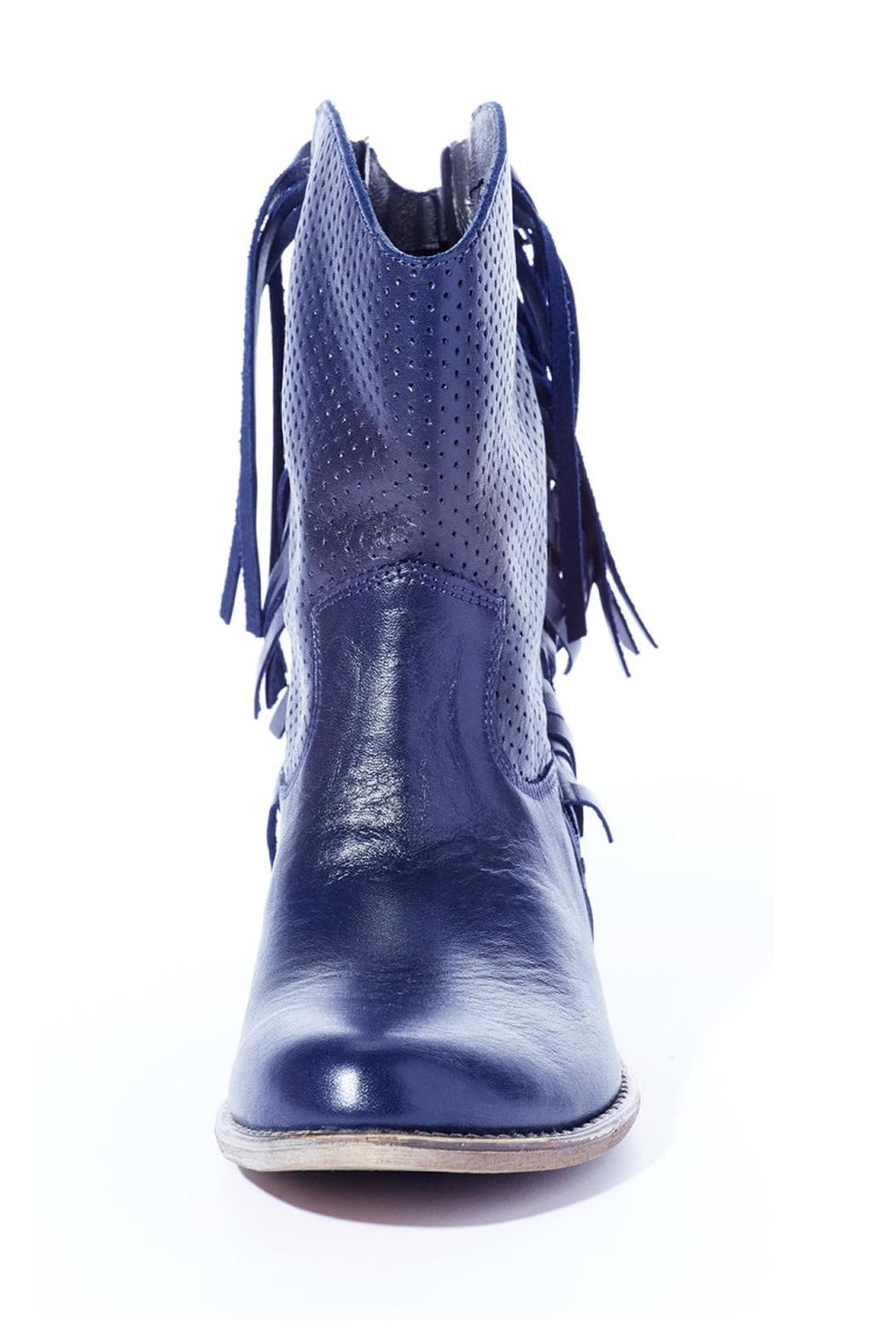 Rebel With Cause Navy Fringe Boot - Side Cropped Image