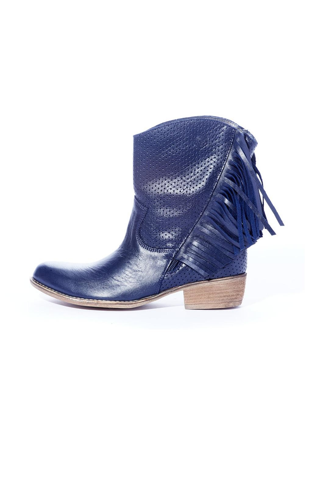 Rebel With Cause Navy Fringe Boot - Front Full Image