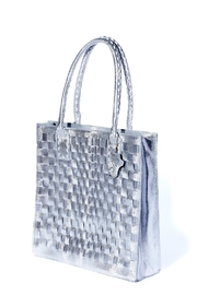 Rebel With Cause Silver Braided Bag - Side cropped