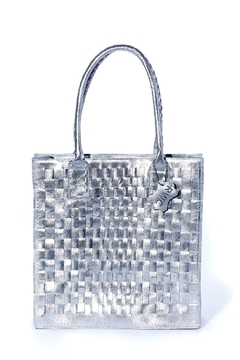 Shoptiques Product: Silver Braided Bag