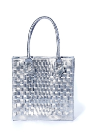 Rebel With Cause Silver Braided Bag - Front cropped