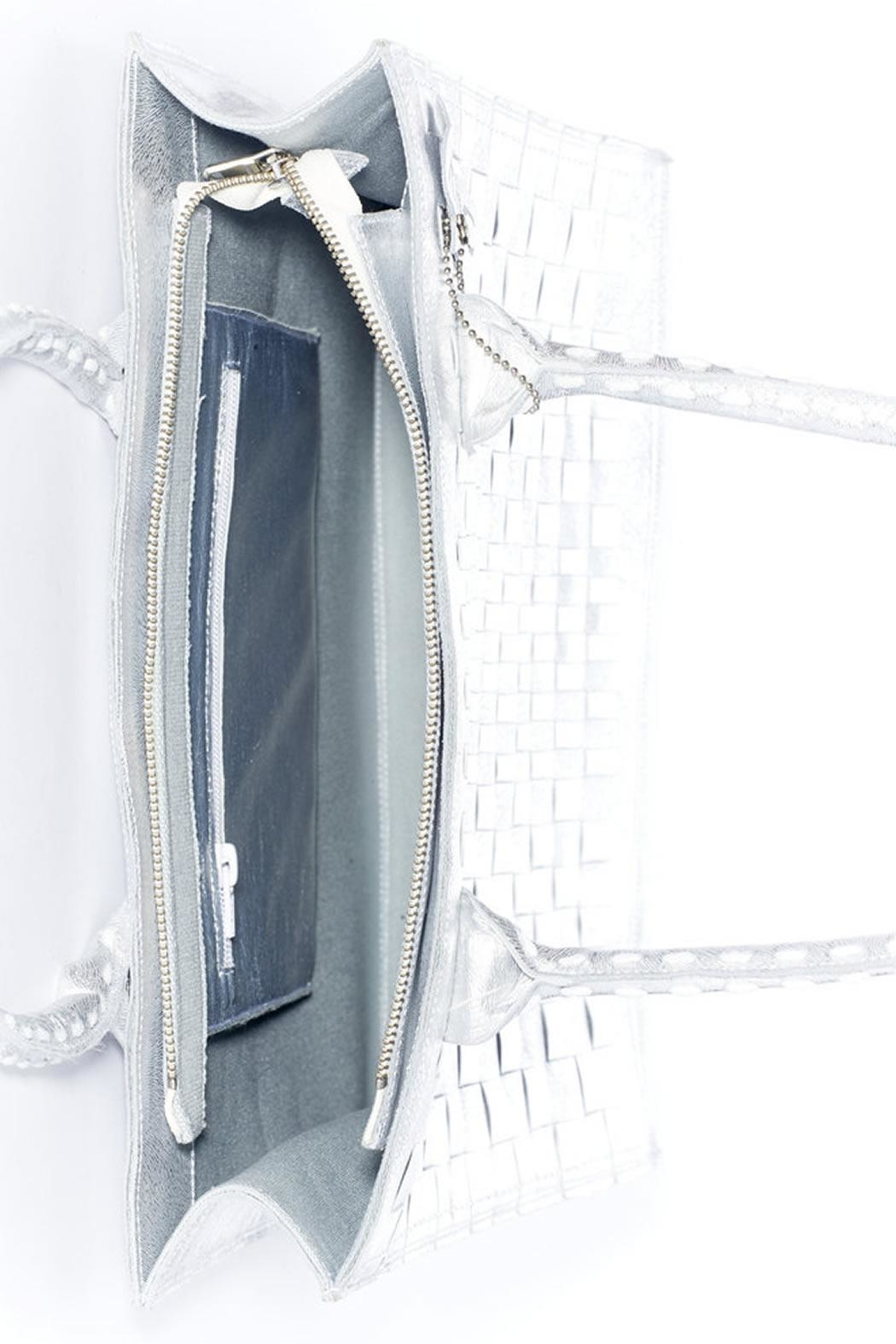 Rebel With Cause Silver Braided Bag - Back Cropped Image