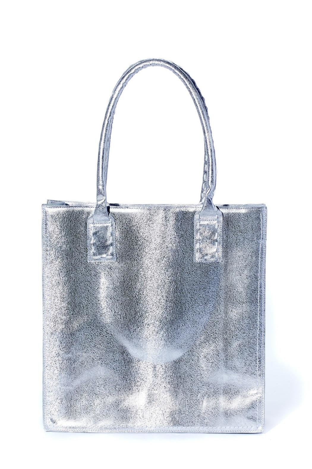Rebel With Cause Silver Braided Bag - Front Full Image