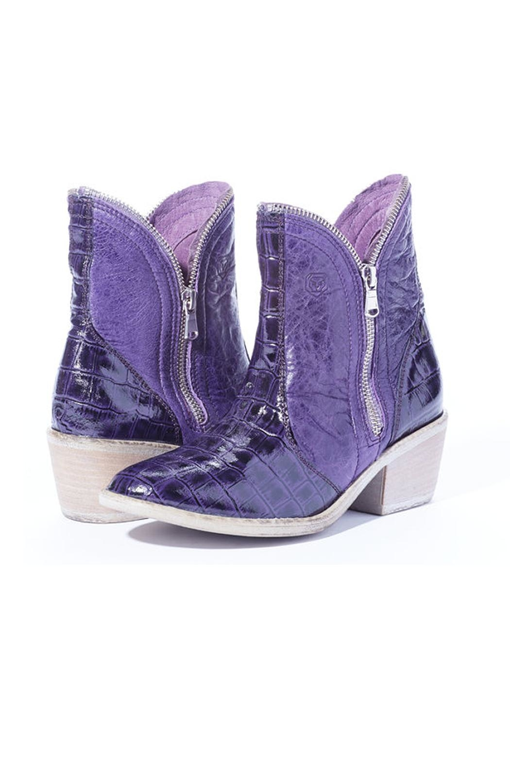 Rebel With Cause Tcu Purple Boots - Front Cropped Image