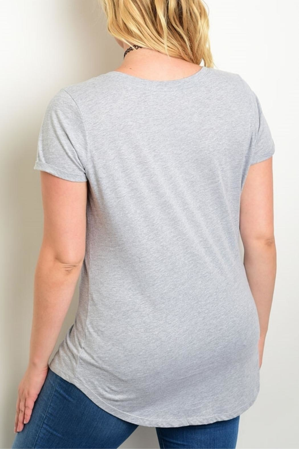 Rebellious One Grey Jersey Tee - Front Full Image