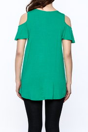 Reborn J Green Tunic Top - Back cropped