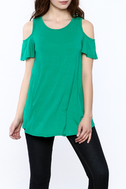 Reborn J Green Tunic Top - Front cropped