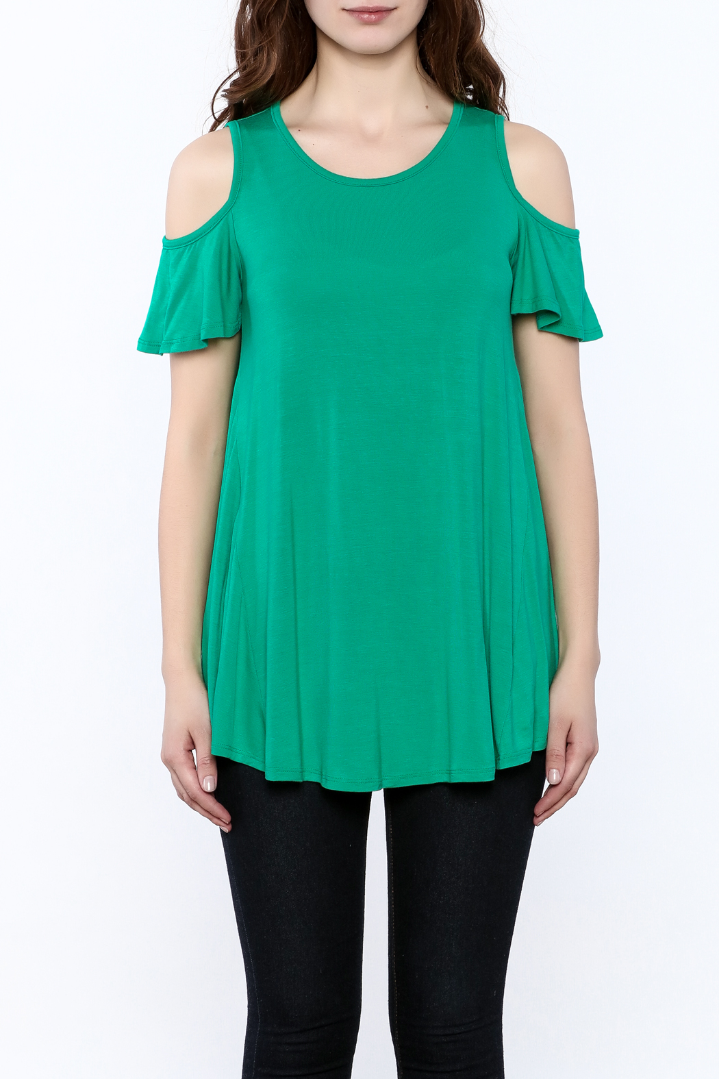 Reborn J Green Tunic Top - Side Cropped Image