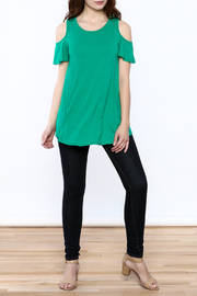 Reborn J Green Tunic Top - Front full body