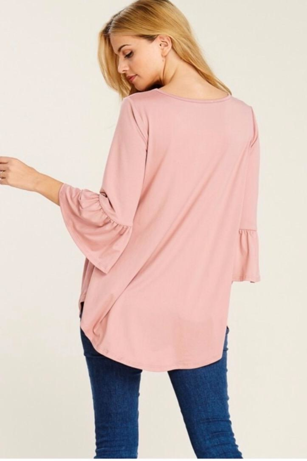 Reborn J Bell Sleeve Tunic - Side Cropped Image