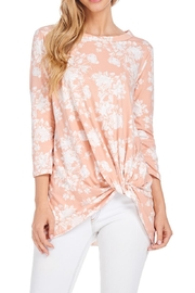 Reborn J Floral Knotted Tunic Top - Product Mini Image