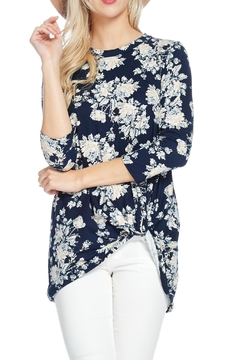 Reborn J Floral Knotted Tunic Top - Alternate List Image