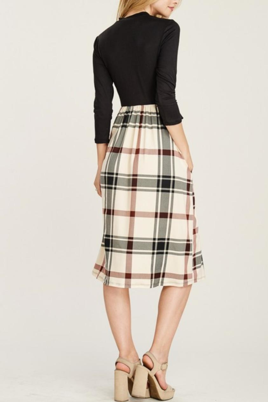 Reborn J Plaid Two-Piece Dress - Front Full Image