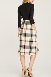 Reborn J Plaid Two-Piece Dress - Front full body