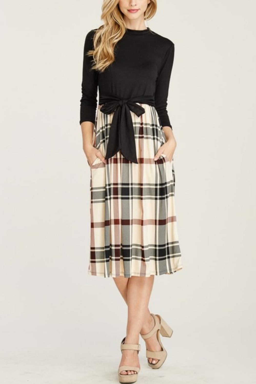 Reborn J Plaid Two-Piece Dress - Front Cropped Image