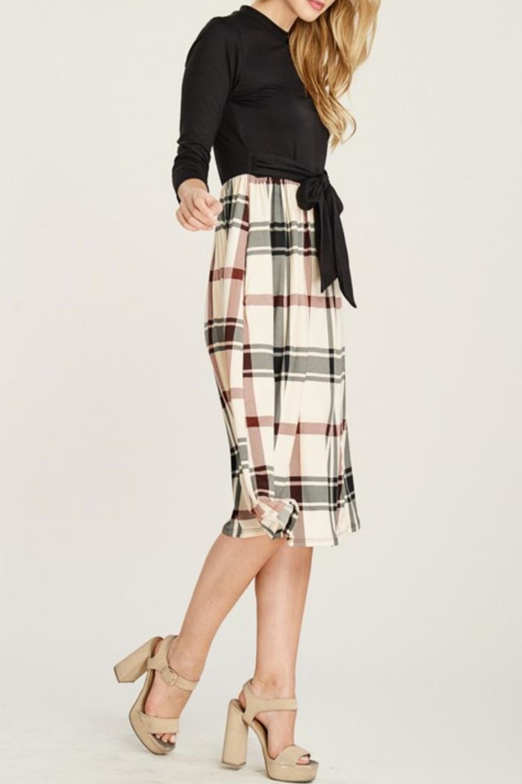 Reborn J Plaid Two-Piece Dress - Side Cropped Image