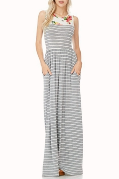 Shoptiques Product: Striped-Floral Maxi Dress
