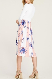 Reborn J Two-Tone Floral Dress - Front full body