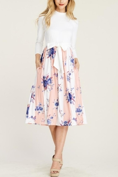 Reborn J Two-Tone Floral Dress - Alternate List Image