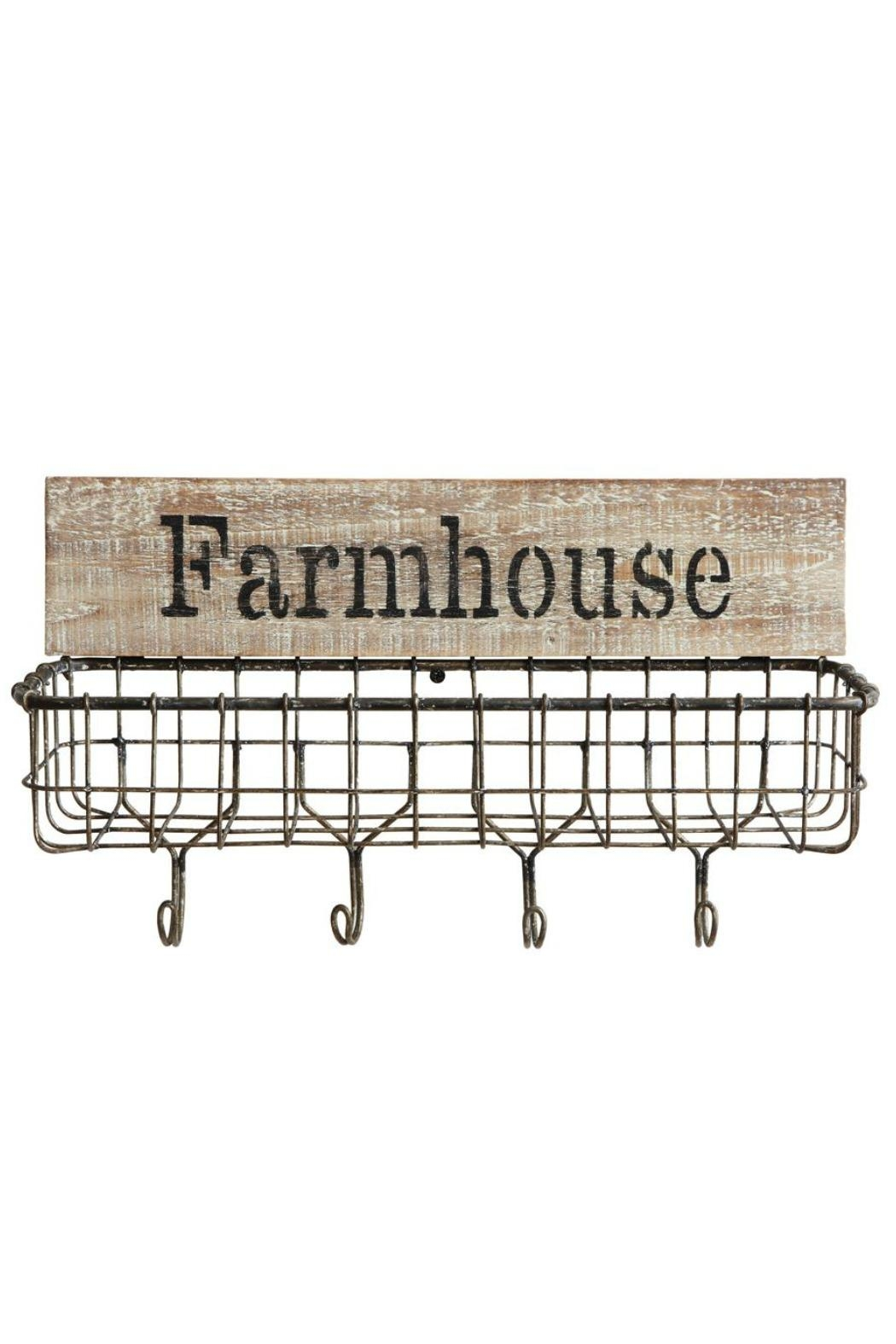 ReCreateU Farmhouse Wall Basket - Front Cropped Image