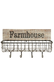 ReCreateU Farmhouse Wall Basket - Front cropped