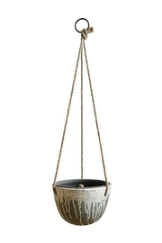 ReCreateU Hanging Terra-Cotta Planter - Front cropped