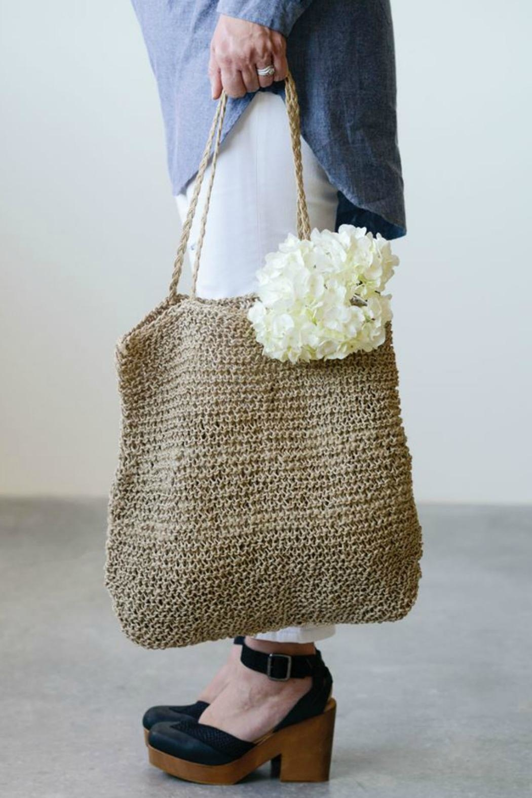 ReCreateU Jute Knotty Bag - Front Cropped Image