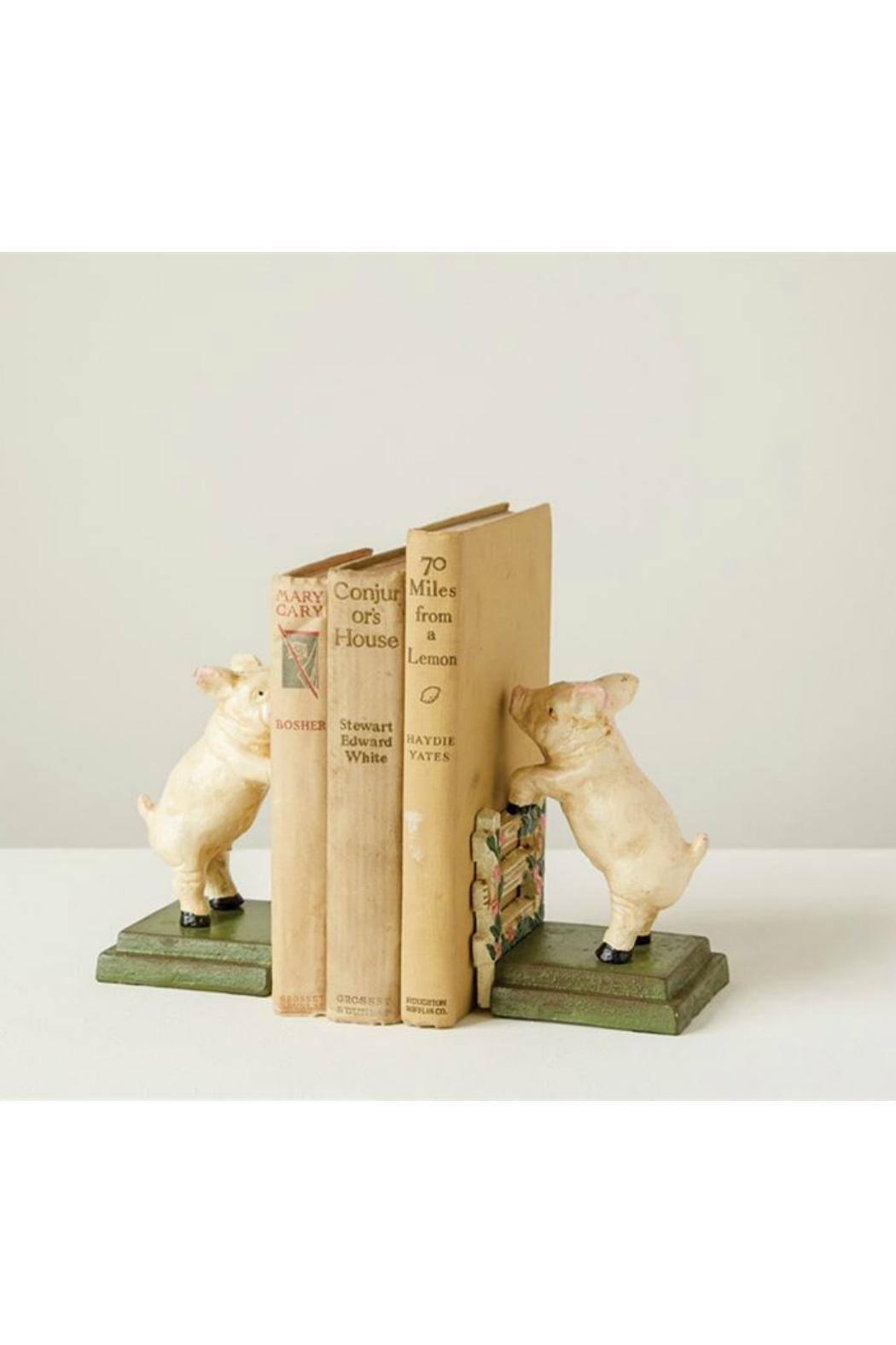 ReCreateU Reproduction Pig Bookends - Side Cropped Image