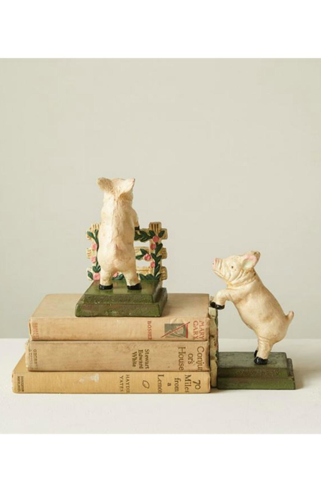 ReCreateU Reproduction Pig Bookends - Front Full Image