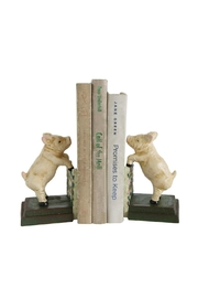 ReCreateU Reproduction Pig Bookends - Front cropped