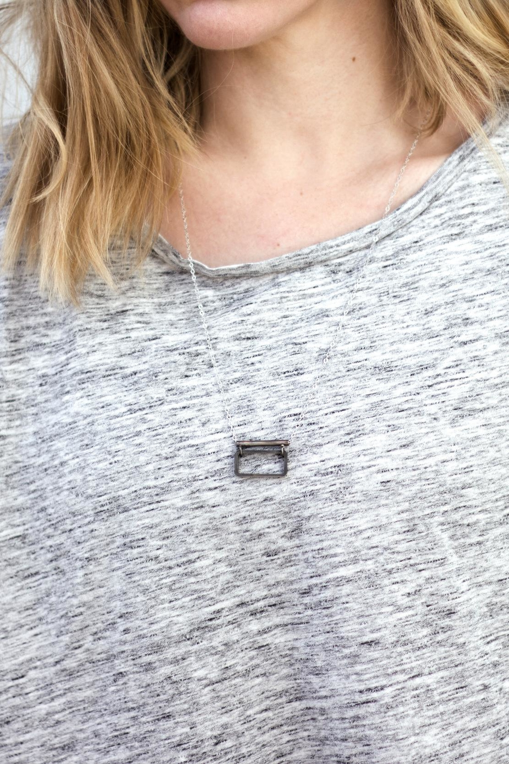 Sable + Company Rectangle Bar Necklace - Main Image