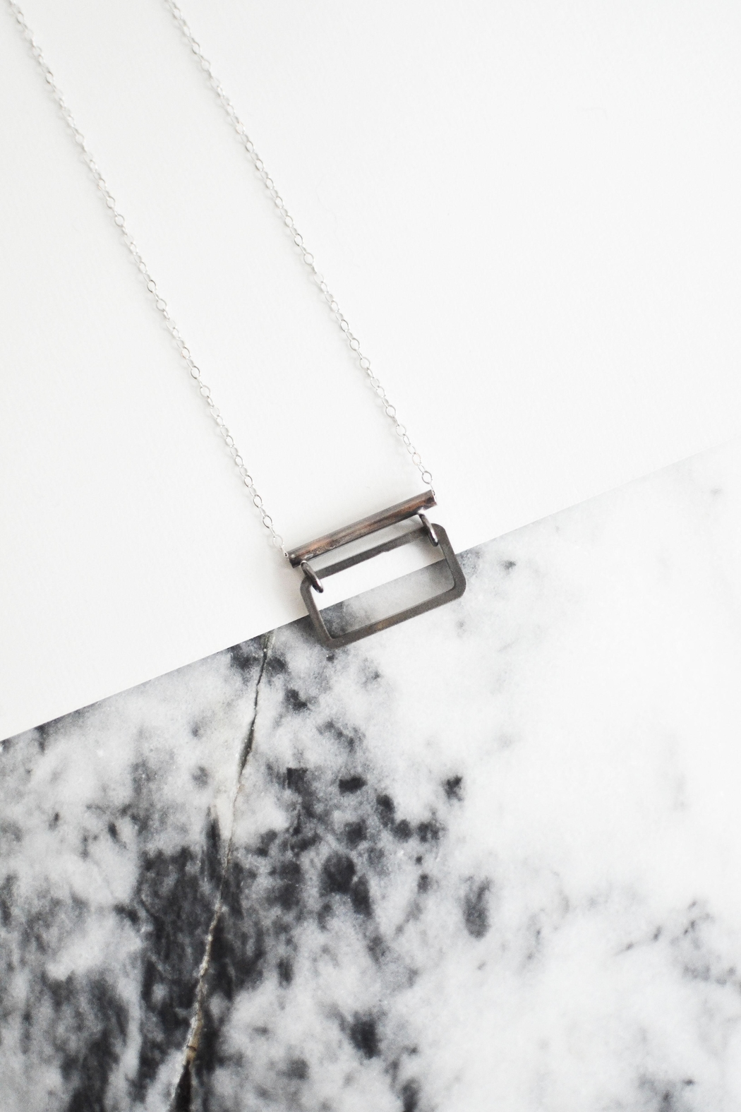 Sable + Company Rectangle Bar Necklace - Front Full Image