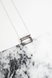 Sable + Company Rectangle Bar Necklace - Front full body