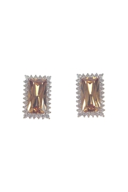 Diane's Accessories Rectangle Earrings Topaz - Product Mini Image